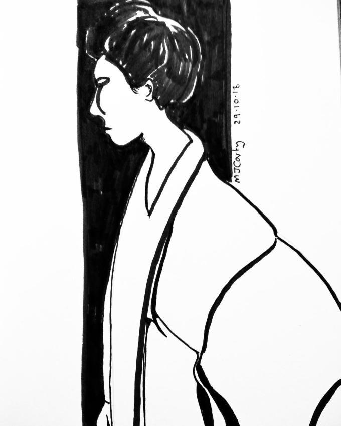 Inktober2018_29a_Kimono_B&W
