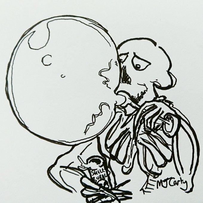 SkeletonBlowingBubbles