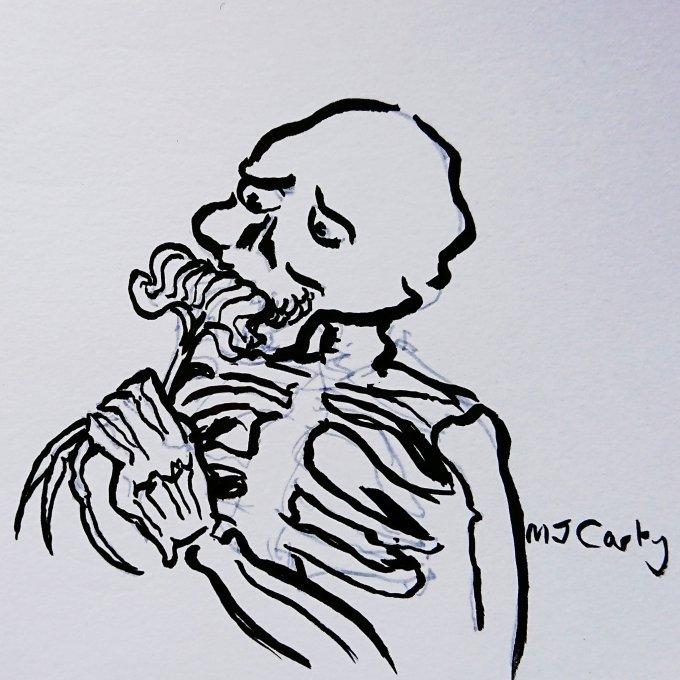 SkeletonSmellTheFlowers