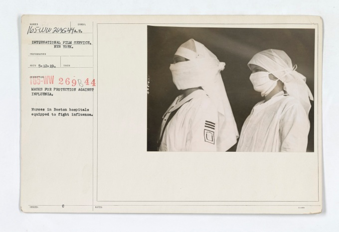 Medical_Department_-_Influenza_Epidemic_1918_-_Masks_for_protection_against_influenza._Nurses_in_Boston_hospitals_equipped_to_fight_influenza_-_NARA_-_45499377