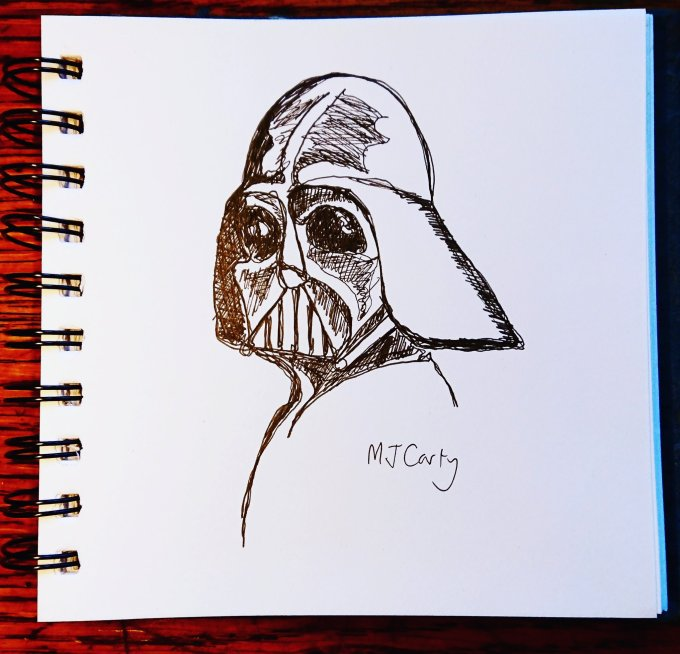 VaderSingleLineSketchulence15April2020