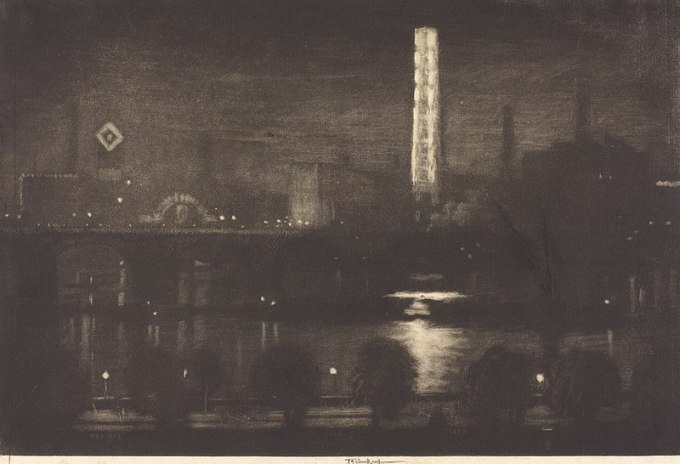 800px-Joseph_Pennell,_London_Night,_Whiskey_and_Tea,_1909,_NGA_9571