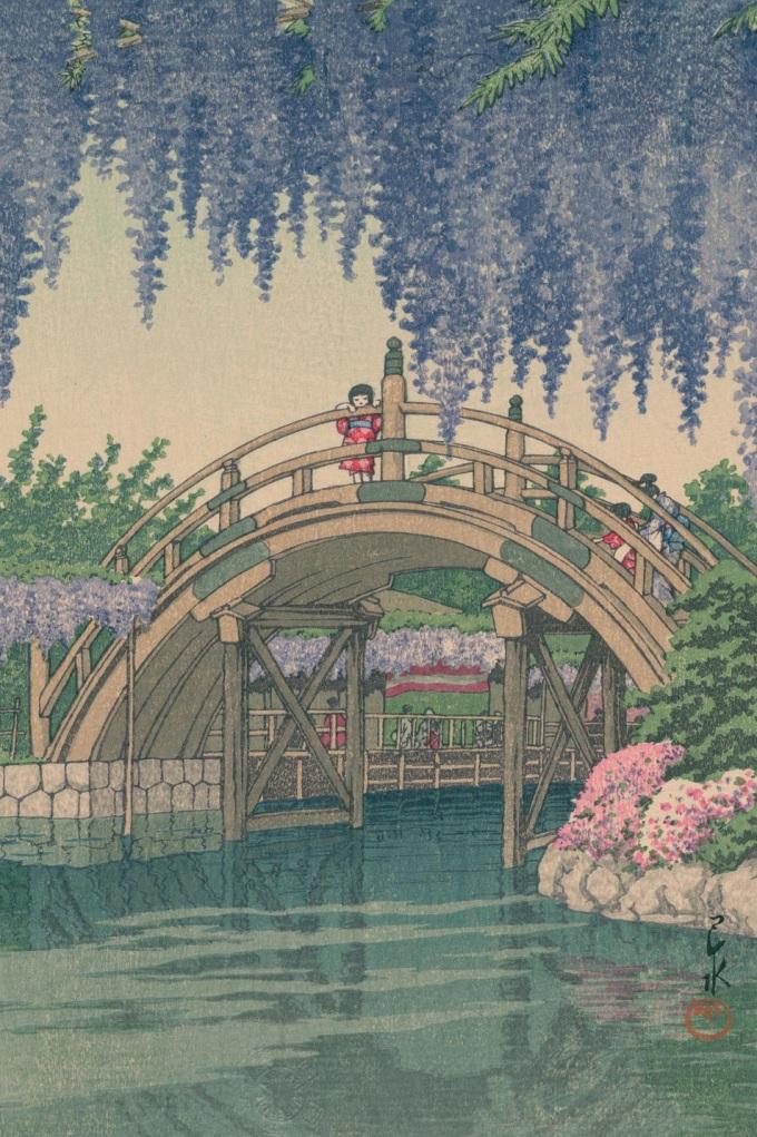 Kawase_Hasui_bridge_detail